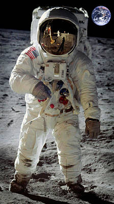 Photograph - Apollo 11 Space Suit Worn By Buzz Aldrin by Celestial Images