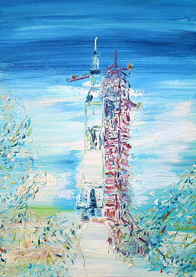 Painting - Apollo 11 Taking Off by Fabrizio Cassetta