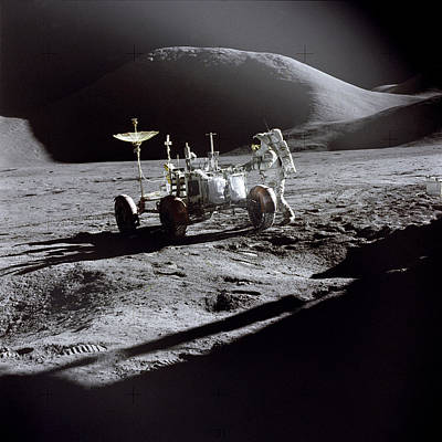 Photograph - Apollo 15 Lunar Rover by Commander David Scott