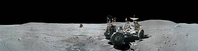 Apollo 16 Exploration Of The Moon Art Print