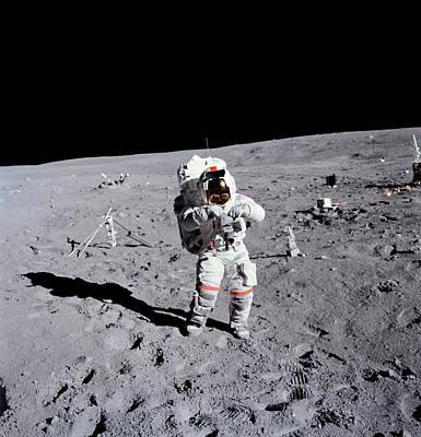 Apollo 16 Moowalk Art Print by Nasa