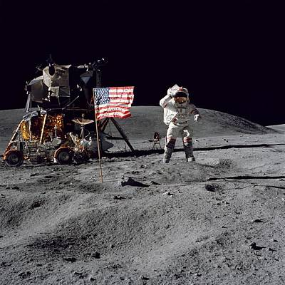 Apollo 16 Art Print by Paul Fearn