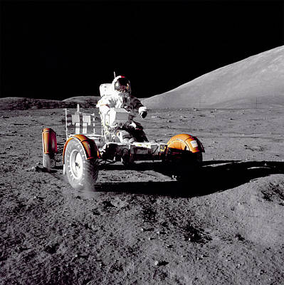 Apollo 17 Moon Rover Ride Art Print by Movie Poster Prints