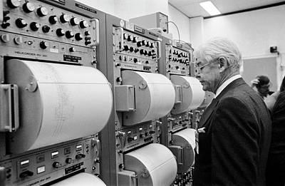 Impact Photograph - Apollo 17 Seismograph Readings by Nasa