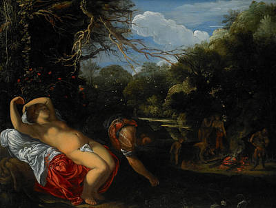Clearing Painting - Apollo And Coronis by Adam Elsheimer