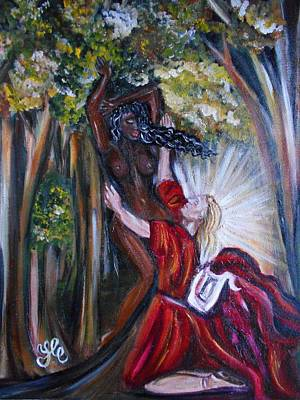 Painting - Apollo And Daphne by Yesi Casanova