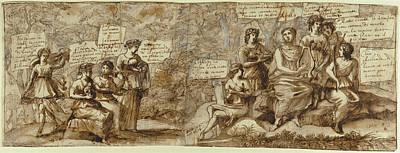 Apollo And The Muses Claude Lorrain Claude Gellée Art Print