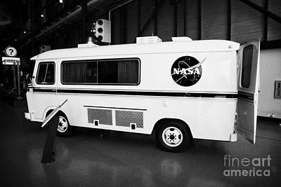 apollo astronaut van at the apollo saturn v center at Kennedy Space Center Florida  Art Print by Joe Fox
