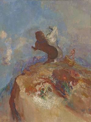 Deity Painting - Apollo, C.1905-10 by Odilon Redon