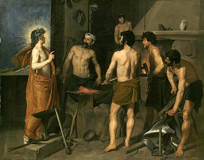 The Forge Of Vulcan Painting - Apollo In The Forge Of Vulcan by Diego Velazquez