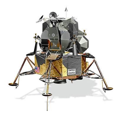 Apollo Lunar Module Art Print by Carlos Clarivan/science Photo Library