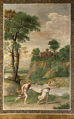 Painting - Apollo Pursuing Daphne by Domenichino and Assistants