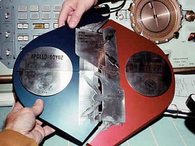 Apollo Soyuz Test Project Commemoration Art Print by Nasa