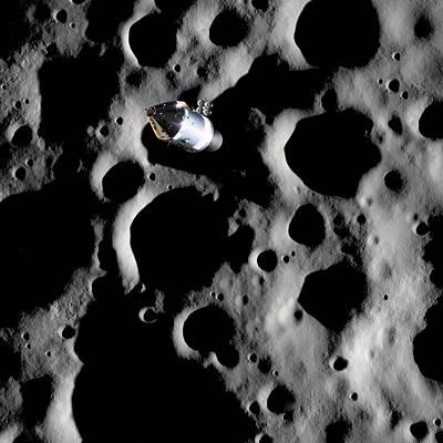 Apollo Spacecraft In Lunar Orbit Art Print by Detlev Van Ravenswaay