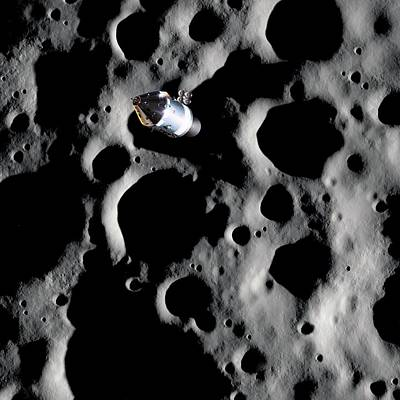 Apollo Spacecraft In Lunar Orbit Art Print