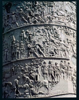 Marble Animal Figures Photograph - Apollodorus Of Damascus, Column by Everett