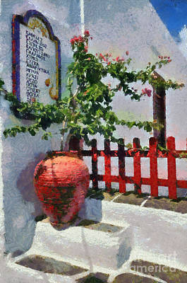 Painting - Apollonia Town In Sifnos Island by George Atsametakis