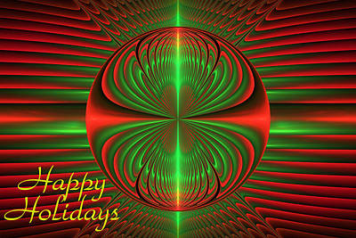 Digital Art - Apophysis Christmas Card by Sandy Keeton