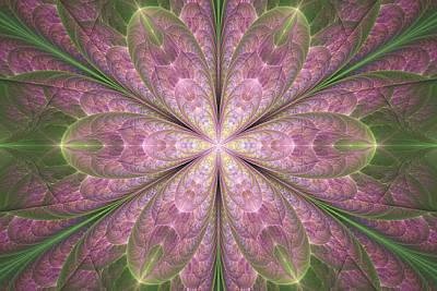 Digital Art - Apophysis Flower by Sandy Keeton
