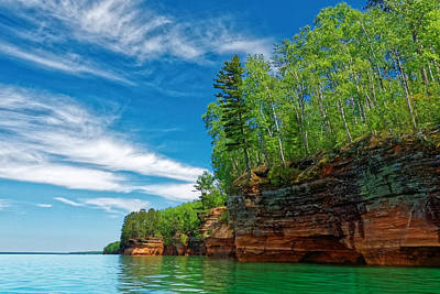 Photograph - Apostle Islands Lakeshore by Lars Lentz