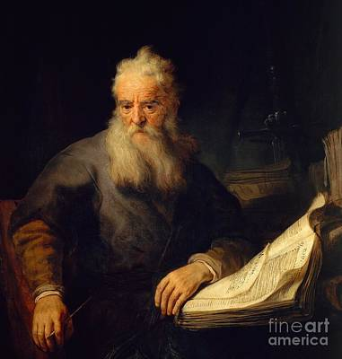 Philosophical Painting - Apostle Paul by Rembrandt