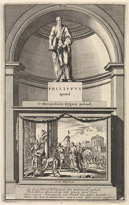 Apostle Philip, Jan Luyken, Zacharias Chatelain II Art Print by Jan Luyken And Zacharias Chatelain Ii And Francois Halma