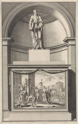 Apostle Philip, Jan Luyken, Zacharias Chatelain II Art Print by Jan Luyken And Zacharias Chatelain (ii) And Jan Goeree