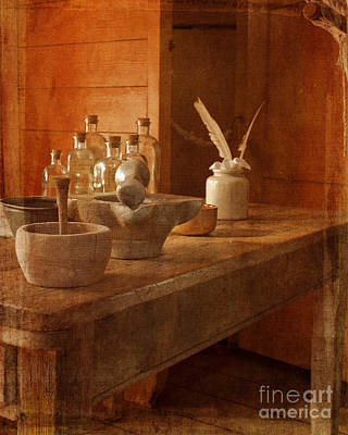 Photograph - Apothecary Bottles Hms Victory by Terri Waters