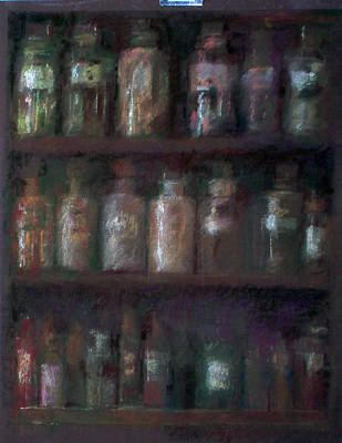 Apothecary Bottles Art Print by Paez  Antonio