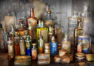 Customized Photograph - Apothecary - For All Your Aches And Pains  by Mike Savad