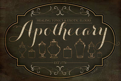 Potions Painting - Apothecary by Jennifer Pugh
