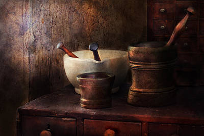 Mortar Photograph - Apothecary - Pick A Pestle  by Mike Savad
