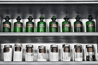 Photograph - Apothecary Shelf by Sharon Popek