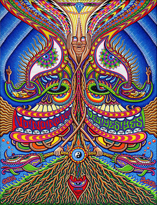 Visionary Painting - Apotheosis by Chris Dyer