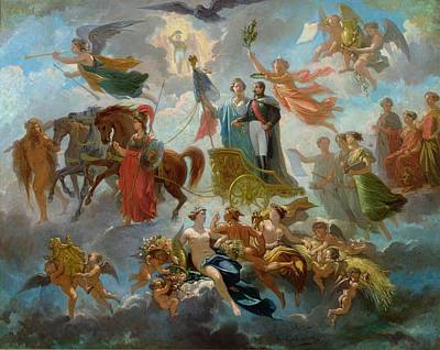 Hermes Painting - Apotheosis Of Napoleon IIi by Guillaume-Alphonse Harang Cabasson