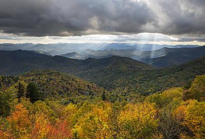 Appalachian Autumn North Carolina Fall Foliage Art Print by Dave Allen