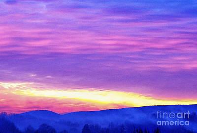 Appalachian January Sunrise Art Print by Thomas R Fletcher