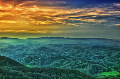 Photograph - Appalachian Mountain Sunset by Victor Culpepper
