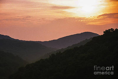 Appalachian Sunset Art Print by Thomas R Fletcher