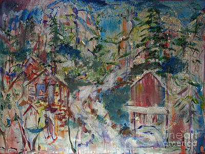 Painting - Appalachian Township by Avonelle Kelsey