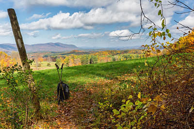 Connecticut Landscape Photograph - Appalachian Trail Hiker by Bill Wakeley