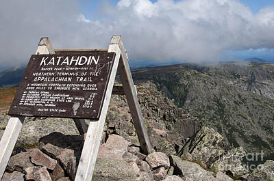 Appalachian Trail Mount Katahdin Art Print by Glenn Gordon