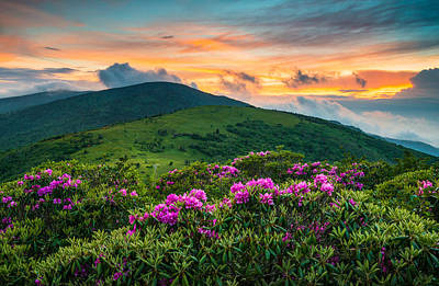 Mountain Sunset Photograph - North Carolina Appalachian Trail Roan Mountain Highlands by Dave Allen