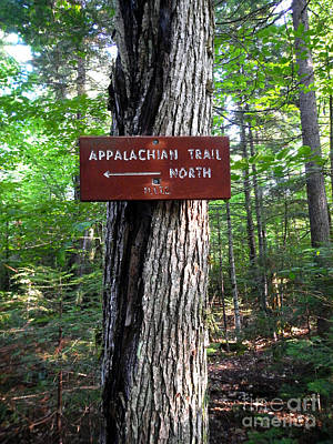 Photograph - Appalachian Trail Sign North by Glenn Gordon