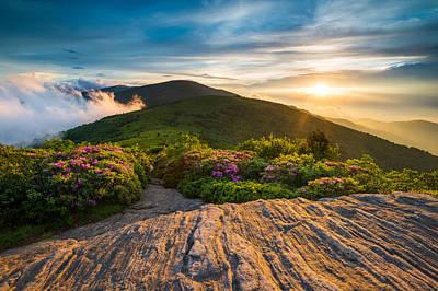 Appalachian Photograph - Appalachian Trail Sunset North Carolina Landscape Photography by Dave Allen