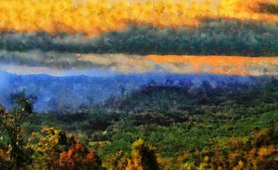 Gatlinburg Tennessee Painting - Appalachian Sunrise by Dan Sproul