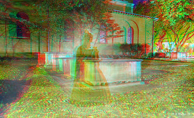 Ectoplasm Photograph - Apparition - Use Red-cyan 3d Glasses by Brian Wallace