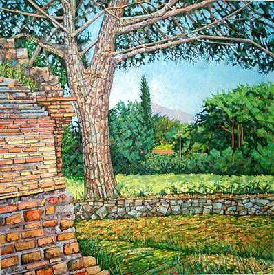 Italian Countryside Painting - Appia Antica, View, 2008 by Noel Paine