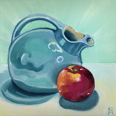 Painting - Apple And Ball Pitcher by Katherine Miller