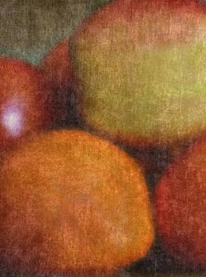 Baking Mixed Media - Apple And Orange by Bob RL Evans